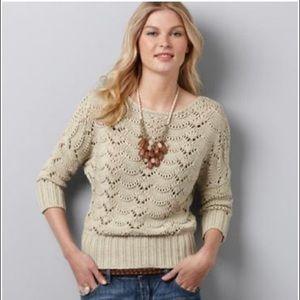 NWT Ann Taylor LOFT Scallop Stitch Sweater